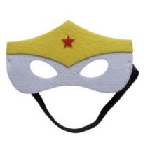 Sárga-fehér csillagos filc maszk - ÚJ