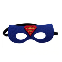 Kék filc maszk - Superman - ÚJ