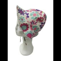 46-48 cm-es fejre fehér alapon rózsaszín virágos nyári kalap