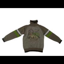 122-es barna dínós kötött pulóver - Dopodopo