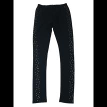 152-es fekete oldalt csillagos leggings - Reserved
