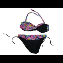 Női 36-os fekete-rózsaszín mintás bikini - Sea