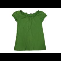 134-140-es zöld fodros szélű póló - H&M