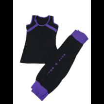 146-os lila-fekete kétrészes táncruha, sportruha - Magic Rock 'n' Roll