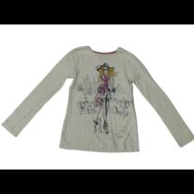 152-158-as törtfehér lányos pamutfelső - F&F