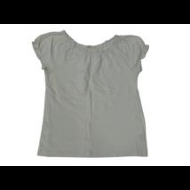 146-152-es fehér fodros szélű póló - H&M