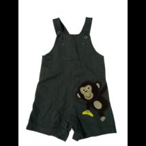 86-os szürke majmos pamut kertész rövidnadrág, short, napozó - Carters