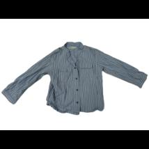 92-es kék csíkos hosszú ujjú ing - Vertbaudet