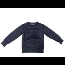 110-116-os kék feliratos pulóver