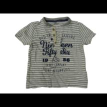 92-98-as szürke csíkos póló - F&F