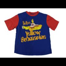 110-es kék-piros fiú póló - The Beatles