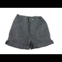 92-98-as szürke kockás farmer rövidnadrág - Pixel (kicsit foltos)