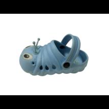 25-ös kék hernyós gumiklumpa, habpapucs