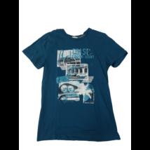 158-164-es kék autós póló
