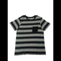 164-es szürke-fekete csíkos póló - H&M