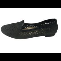 33-as fekete áttört mintás balerina cipő - Nelli blu