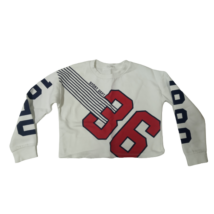 140-es fehér feliratos top jellegű pulóver - H&M
