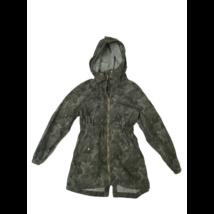 134-140-es szürke virágos átmeneti kabát - H&M