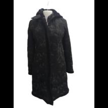 Női 38-as fekete hímzett télikabát - Bella Mode