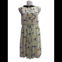 Női S-es sárga madaras ruha - Zara