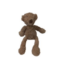 32 cm-es barna szőrmés pihepuha maci, mackó, medve