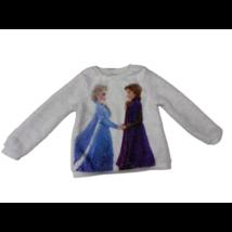 116-os fehér szőrmés pulóver - Frozen, Jégvarázs