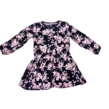 98-as kék-rózsaszín virágos pamut ruha - Name It