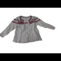 98-as fehér hímzett hosszú ujjú blúz - Zara