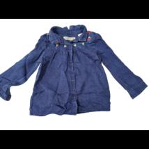 98-as kék hímzett hosszú ujjú farmer blúz - Zara
