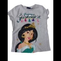 104-110-es szürke átfordítható flitteres póló - Jázmin - Aladdin - Disney