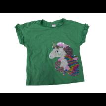 110-es zöld unikornisos átfordítható flitteres póló - C&A