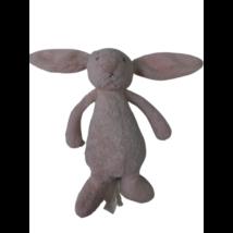 30 cm-es rózsaszín szőrmés csörgős nyuszi, bébijáték