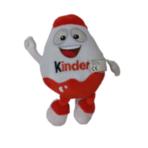 Fehér-piros plüss figura - Kinder