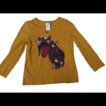 110-es mustársárga lovas pamutfelső - C&A