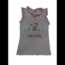 152-158-as fehér fodros póló - Hello Kitty
