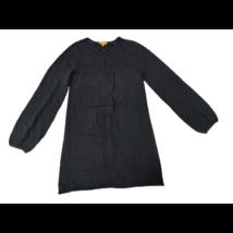 140-es fekete kötött tunika, vagy hosszított pulóver - One by One