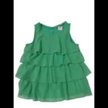 158-as zöld fodros ujjatlan blúz - H&M