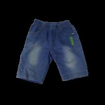 110-es kék feliratos puha farmer rövidnadrág