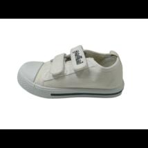 25-ös fehér tépőzáras vászoncipő - Padini