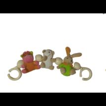 Felakasztható állatos csörgőjáték