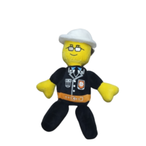 Fekete plüss figura, rendőr - Lego City Movie - ÚJ