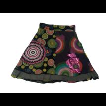 Női L-es színes mintás pamut szoknya - Desigual (fakóbb)