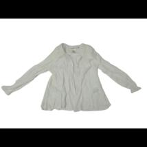 122-es törtfehér gyűrt anyagú alkalmi blúz - H&M (apró folttal)