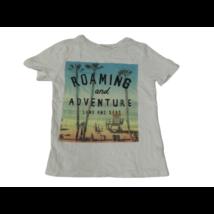 122-128-as fehér pálmafás fiú póló - H&M