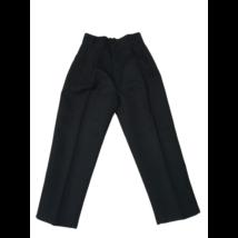 122-es fekete alkalmi nadrág, ünneplőnadrág