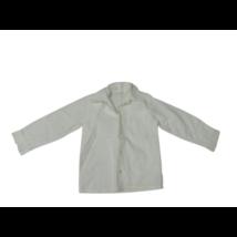110-116-os fehér magában csíkos hosszú ujjú fehér alkalmi, ünneplő ing