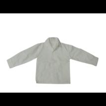 104-110-es fehér csíkos hosszú ujjú fehér alkalmi, ünneplő ing