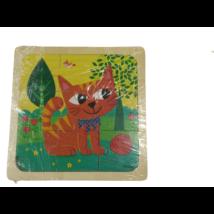 9 db-os fa puzzle - kiscica
