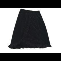152-158-as fekete csillogó átlapolós hatású alkalmi szoknya