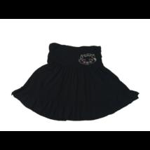 134-es fekete flitteres cicás pamut szoknya